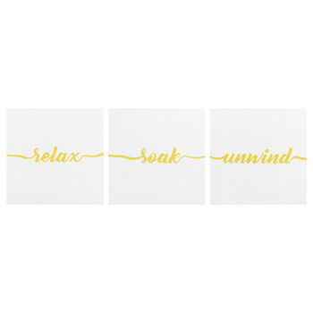 Set of 3 Yellow Canvases