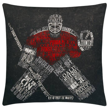 "Hockey Goaler Decorative Pillow 18"" x 18"""