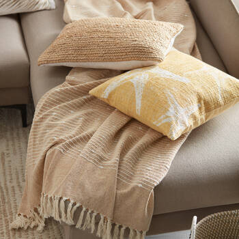 """Collan Throw with Tassels 50"""" X 60"""""""