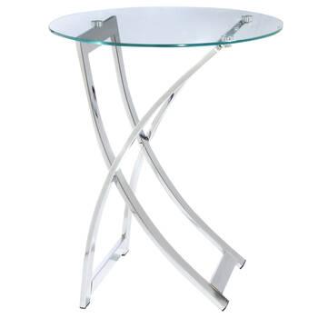 Table d'appoint avec dessus en verre trempé