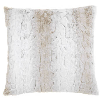 "Lynx Faux Fur Decorative Pillow 20"" x 20"""