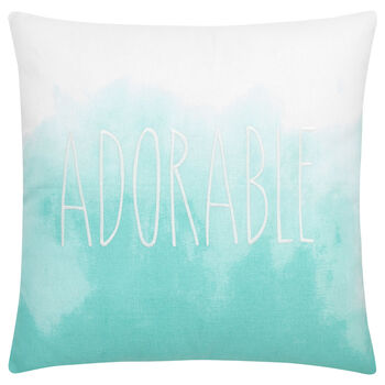 "Vali Embroidered Decorative Pillow 19"" X 19"""
