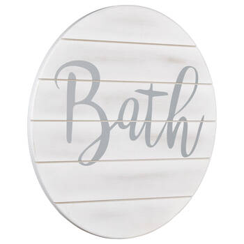 Bath Wood Wall Art