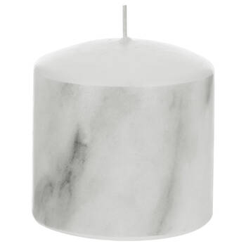 Marble Pattern Small Pillar Candle