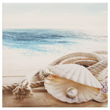 Shell With Pearl Canvas