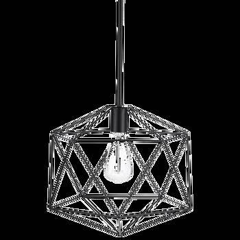 Lampe suspendue en fil de métal noir