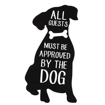Decorative Dog Plaque with Typography