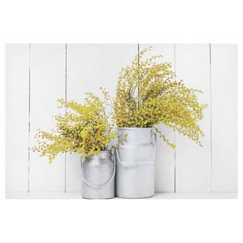 Tableau imprimé bouquet jaune