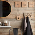 Ensemble de 3 crochets sur plaque en rondins de bois