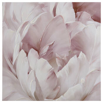 Gel-Embellished Peony Printed Canvas