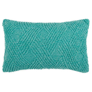 "Knitted Decorative Lumbar Pillow 13"" X 20"""