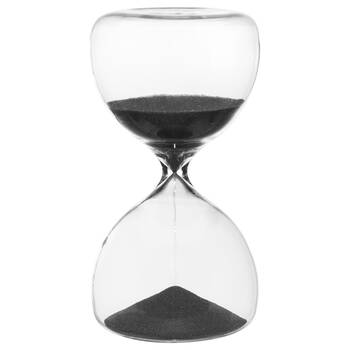 30-Minute Decorative Hourglass with Black Sand 8.5 x 15.5 cm.