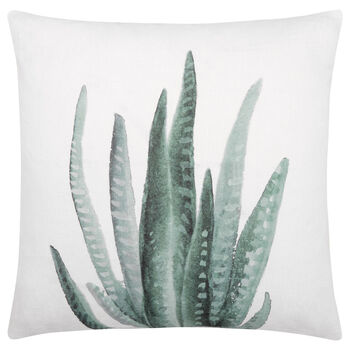 "Cynthia Dulude - Aloe Printed Decorative Pillow 19"" x 19"""