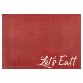 Set of 4 Let's Eat PVC Placemats