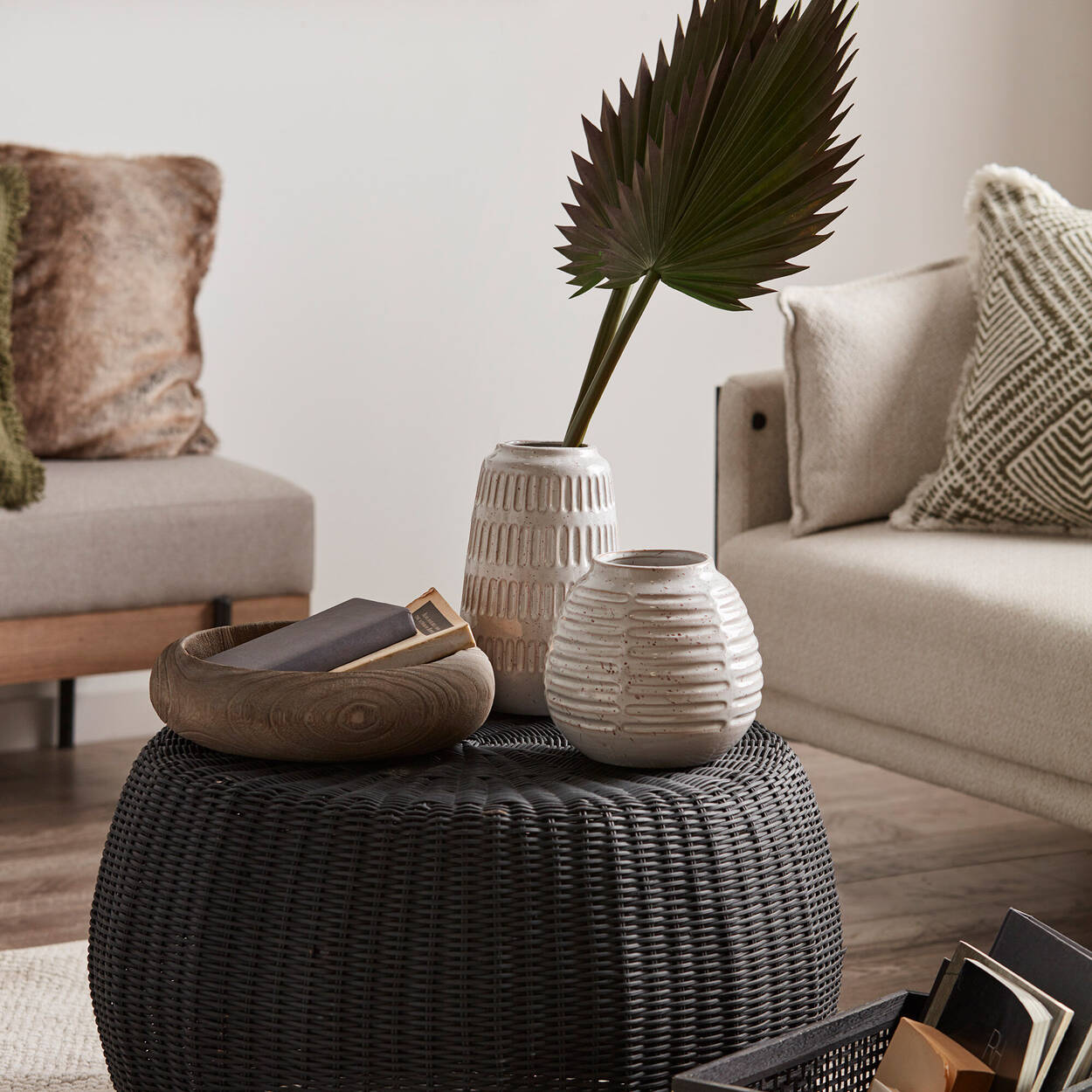 Raw Wooden Grey Bowl