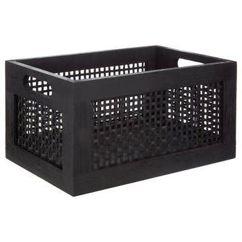 Black Bamboo and Pinewood Crate