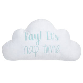 "Nap Time Cloud-Shaped Decorative Pillow 16"" X 9"""