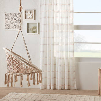 Boho Striped Sheer Panel