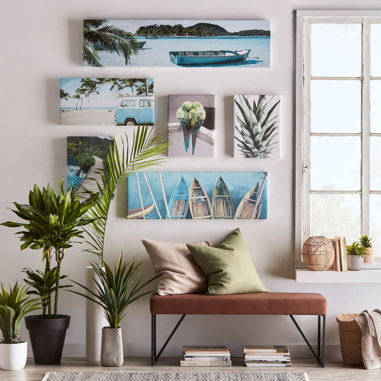By the Beach Printed Canvas