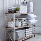 Medium Striped Storage Basket
