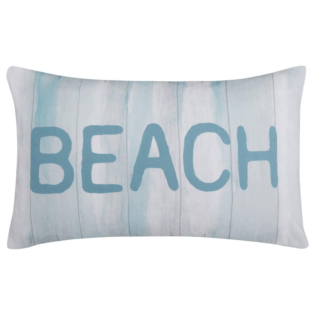 """Beach Decorative Lumbar Pillow 13"""" X 20"""""""