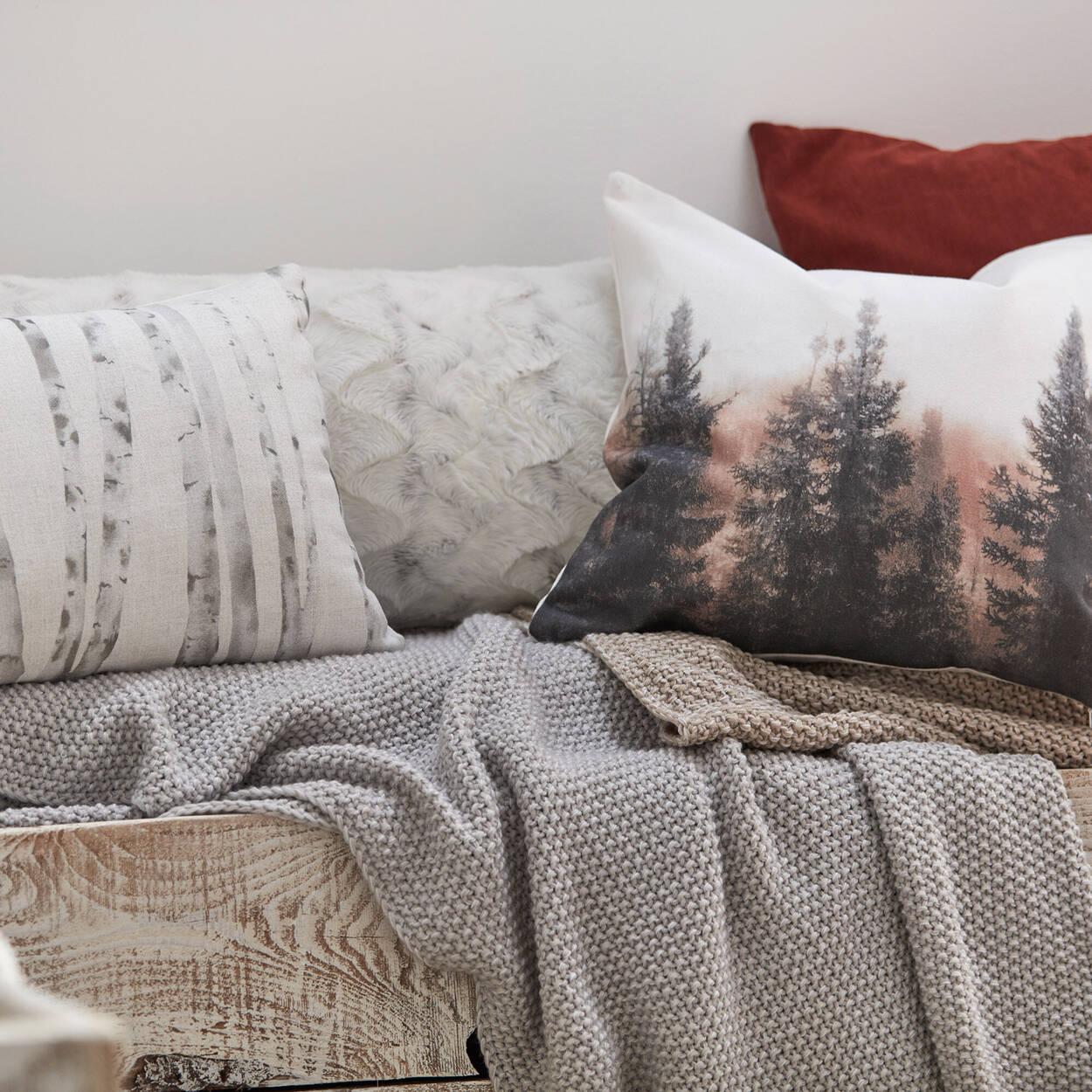 "Fog Decorative Pillow 19"" X 19"""