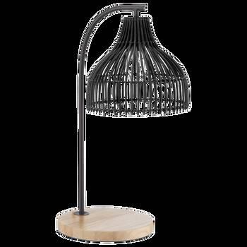 Lampe de table en rotin noir