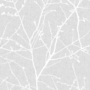 Papier peint avec motif de bourgeons - Rouleau double