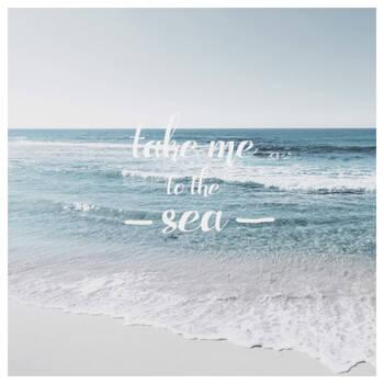 Take Me to the Sea Printed Canvas
