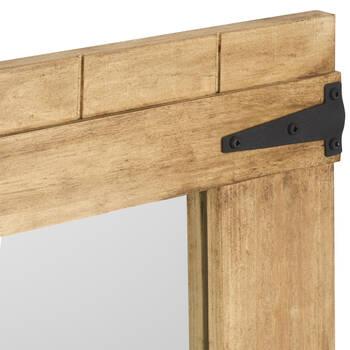 Miroir en bois avec charnières en métal