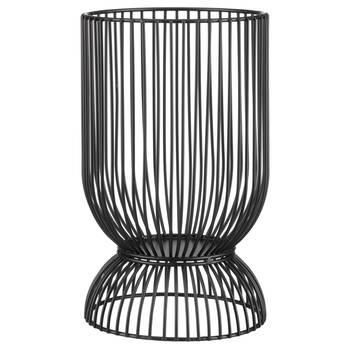 Porte-chandelle en métal noir