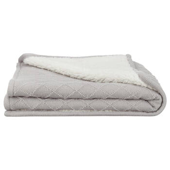 "Alicia Knit & Sherpa Throw 30"" X 40"""