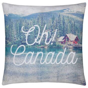 "Oh! Canada Decorative Pillow 18"" X 18"""