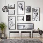Cadre imprimé tigre blanc