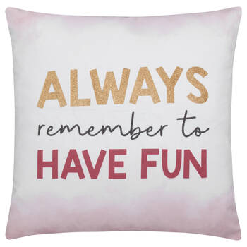 "Fun Decorative Pillow 18"" X 18"""
