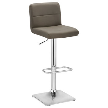 Tabouret de bar ajustable en similicuir mat et en chrome