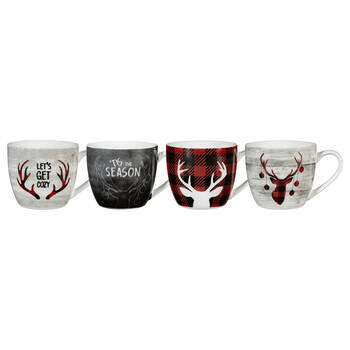 Set of 4 Holiday Mugs
