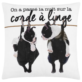 "Terrier Decorative Pillow Cover 18"" X 18"""