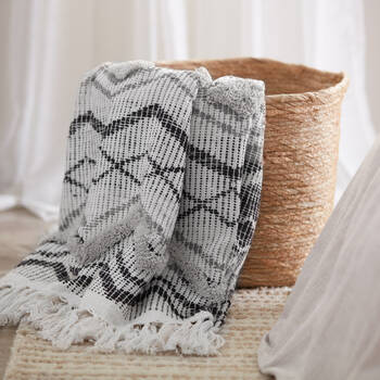 "Oran Throw with Tassels 50"" x 60"""