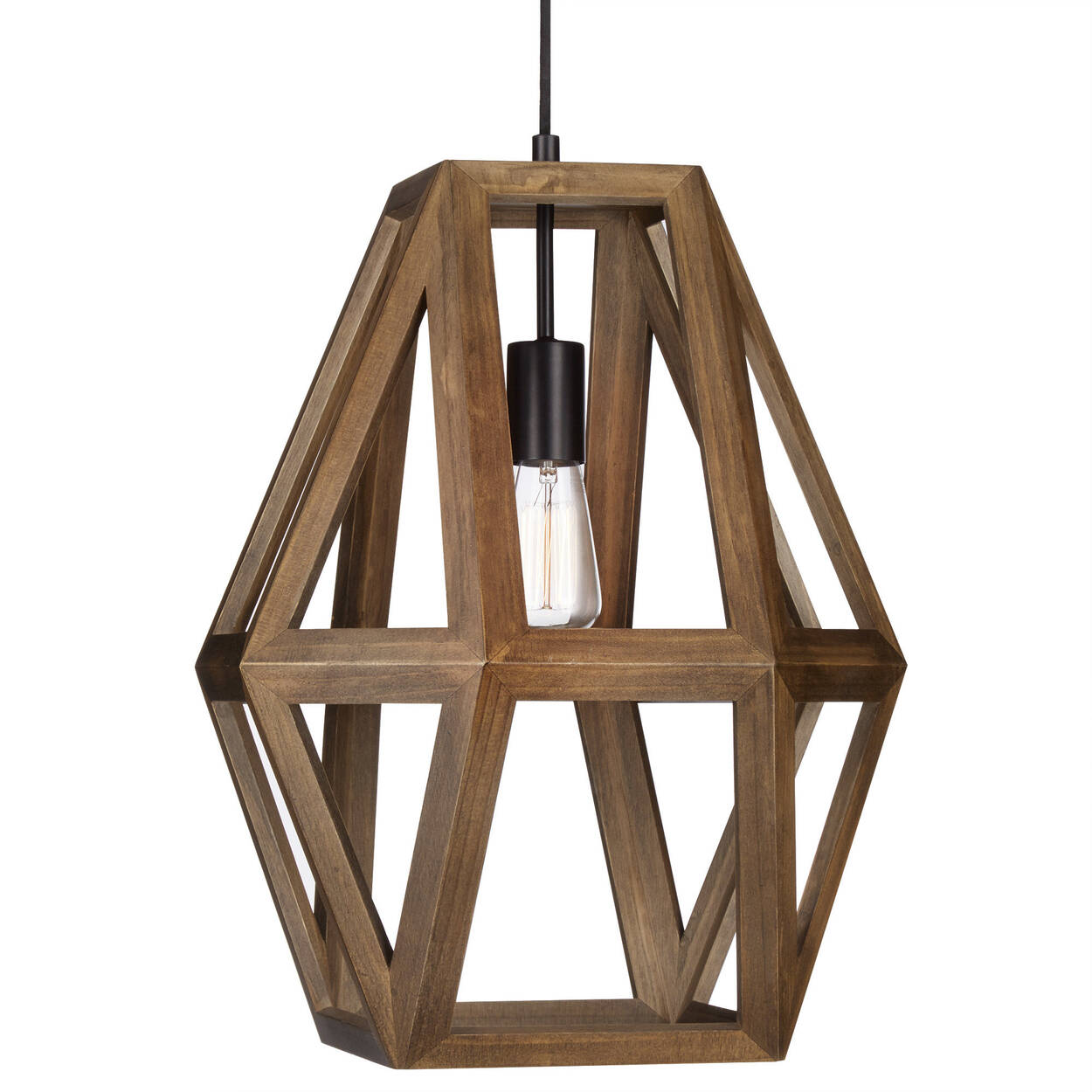 Wooden Geometrical Ceiling Lamp