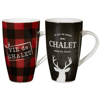 Set of 2 Vie au Chalet Mugs
