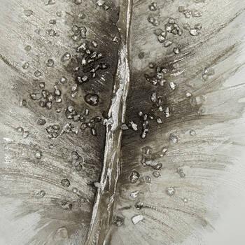 Tableau plume peint à l'huile