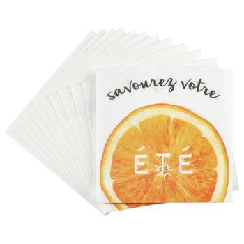 Set of 20 Votre Été Table Napkins