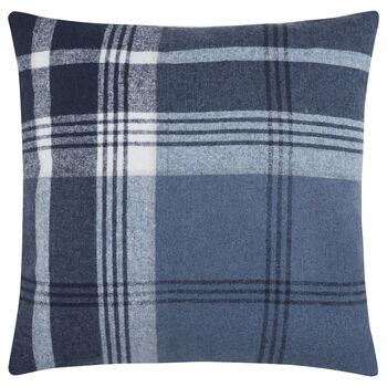 "Darryl Plaid Fleece Decorative Pillow 18"" X 18"""