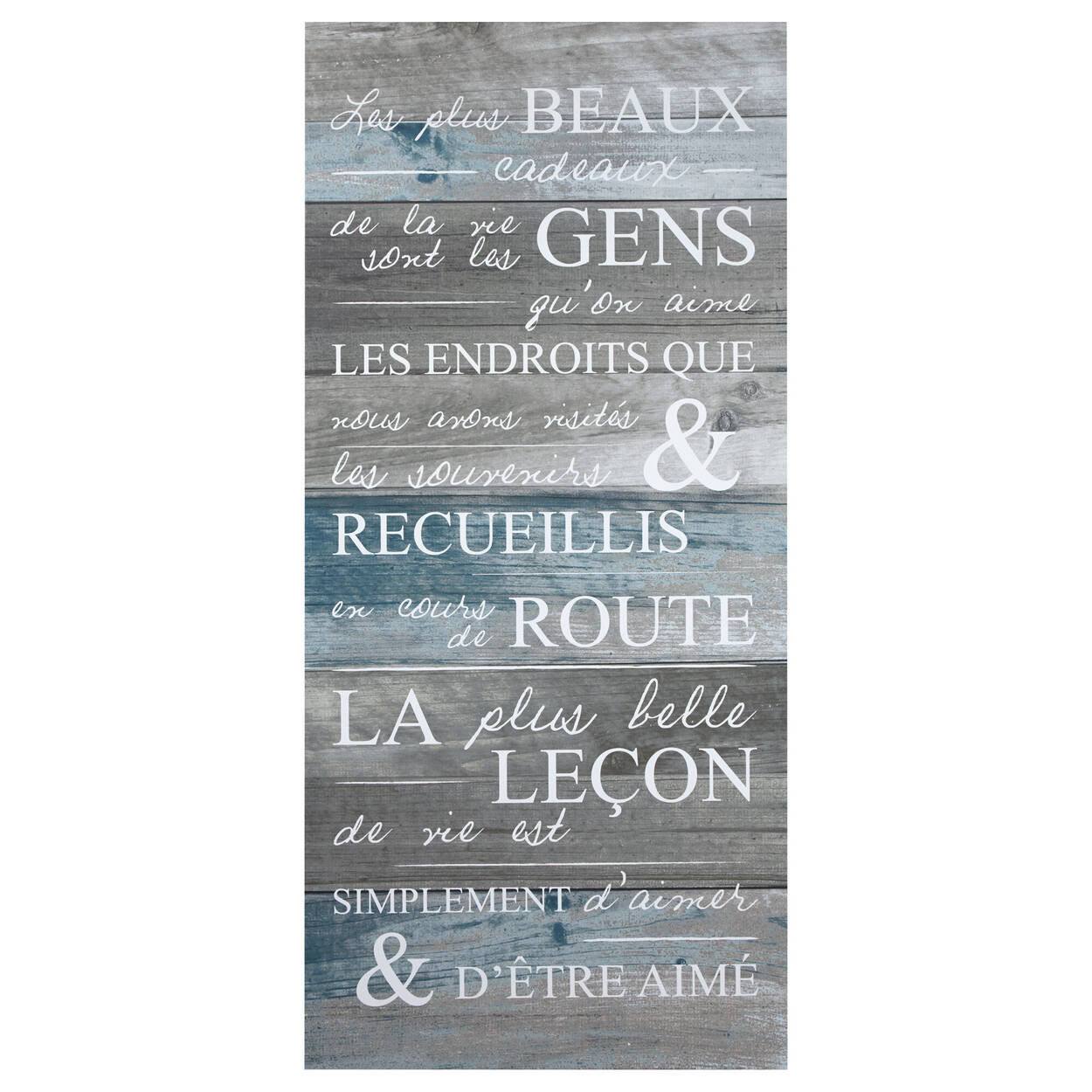Tableau typographie Plus Beaux Cadeaux