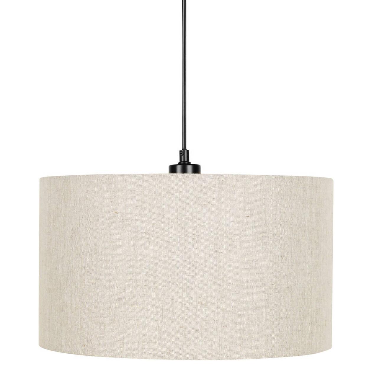 Lampe suspendue ronde en lin - Lampe suspendue avec prise murale ...
