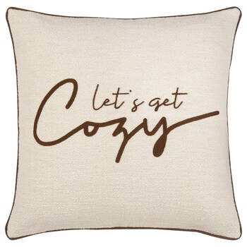 "Let's Get Cozy Decorative Pillow 19"" x 19"""
