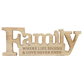 Plaque décorative en bois - Family