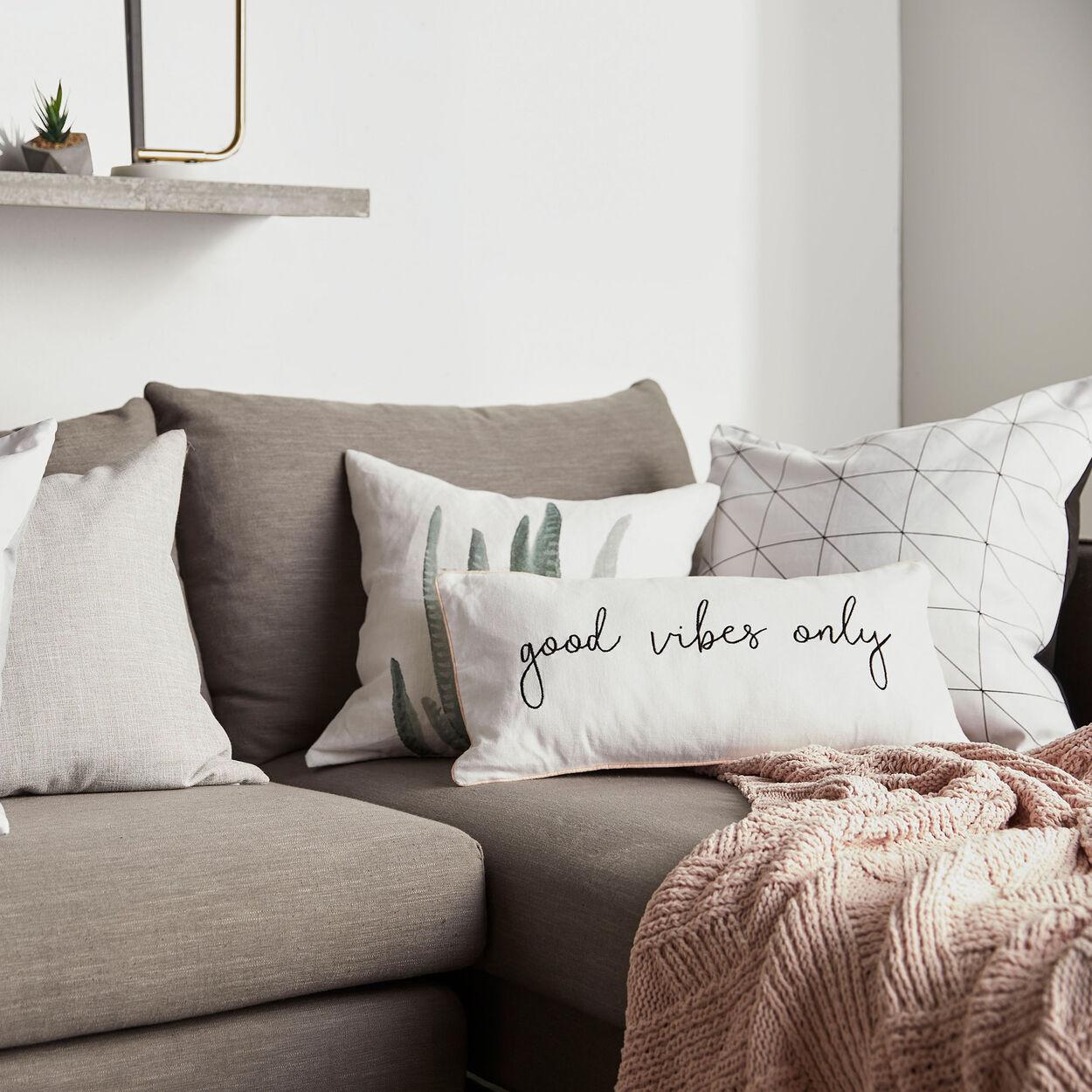 "Cynthia Dulude - Aloe Printed Decorative Pillow 19"" x 19"""