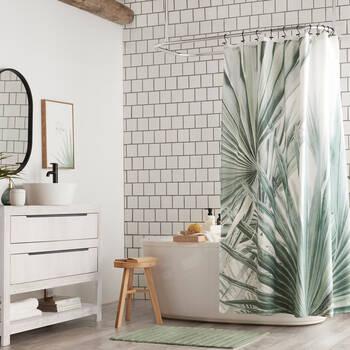 Sage Palm Shower Curtain
